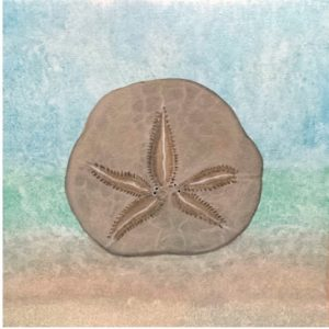 """""""Sand Dollar Serenity"""" acrylic painting by artist April Hoff"""