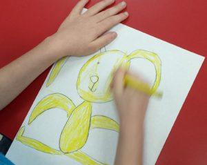 artingales student drawing yellow bunny