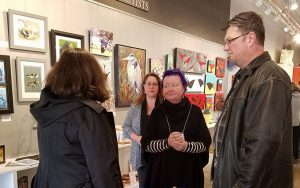 """""""Birds"""" art reception at Valley Art"""