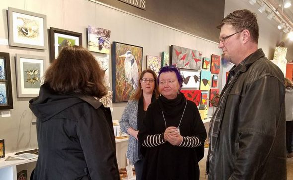 """Birds"" art reception at Valley Art"