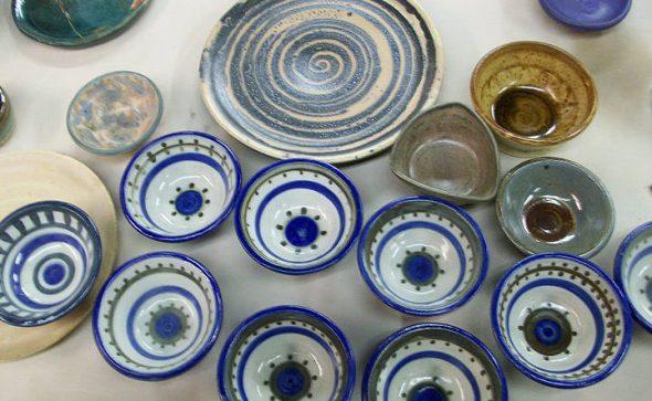 Christine Hurayt thrown pottery bolwls for Izgara restaurant in Forest Grove. 2010
