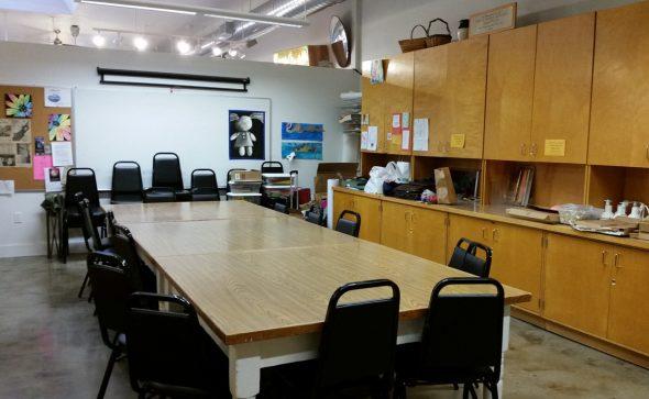 main classroom at valley art