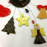 Kids clay ornaments made at Valley Art with Artingales / April Hoff