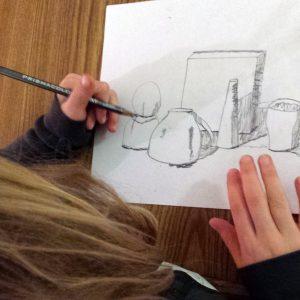 Artingales student drawing at Valley Art