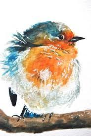 baby bird water color by Jullane Rich